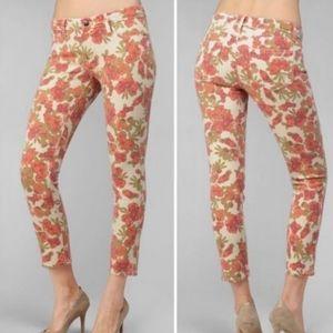 PAIGE Skyline Ankle Peg Floral Jeans Size 27